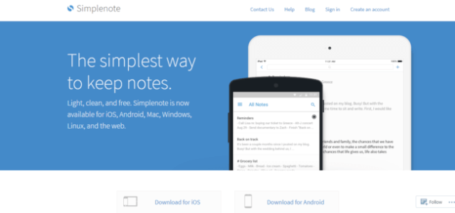 Simplenote-e15186239638837 Evernote Alternatives for taking notes 2019