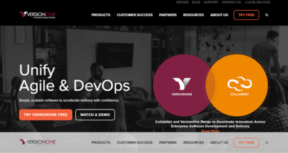 VersionOne-Unified-Agile-DevOps-e1518018676874Top 13 free Jira alternatives for 2019 for agile project management