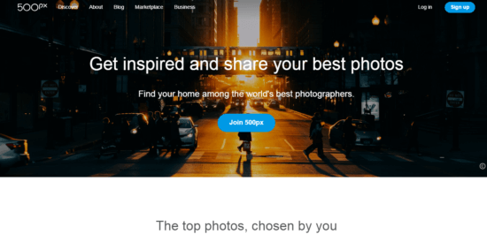 500px as sites like Pinterest
