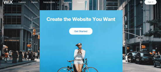 Wix - Best alternative to squarespace