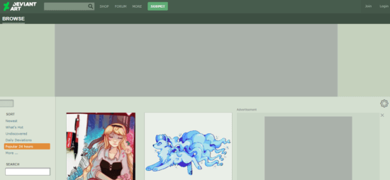 DeviantArt free alternative to pinterest
