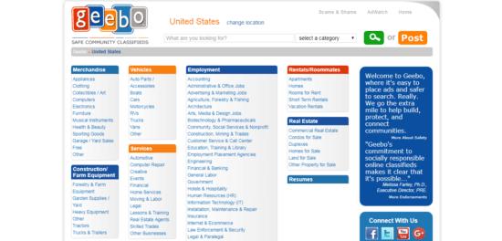 geebo-e15285521212909 Best Craigslist alternatives and sites like Craigslist 2019