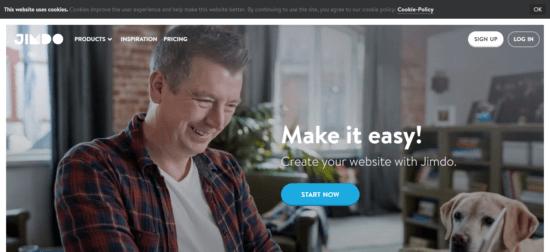 Jimdo - Free websites like squarespace