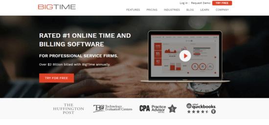 BigTime-e154166562413510 Best Mavenlink alternatives for task management