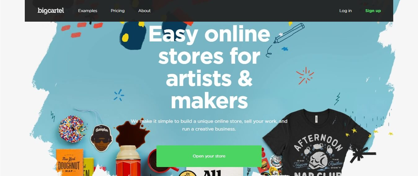 Big Cartel - Free Shopify alternatives