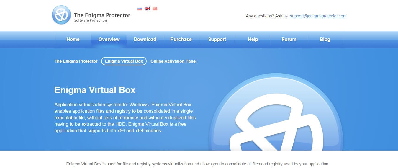 Enigma virtual box as Sandboxie substitutes