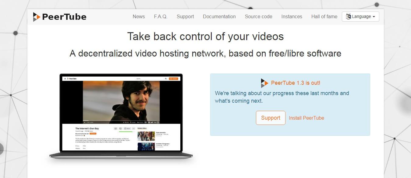 PeerTube - Best youtube alternative