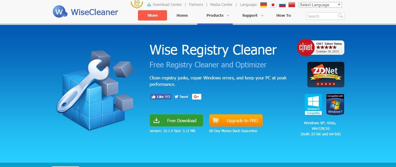 cnet free registry cleaners