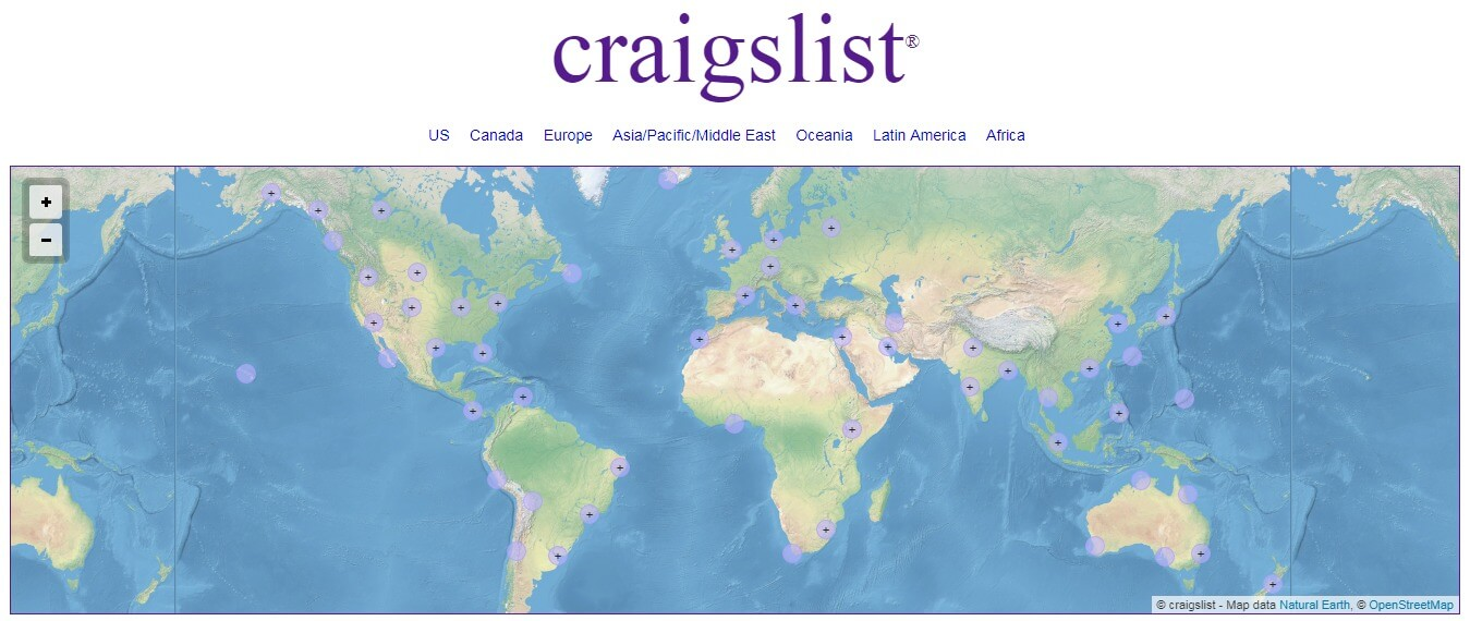 craigslist - Best alternative to gumtree