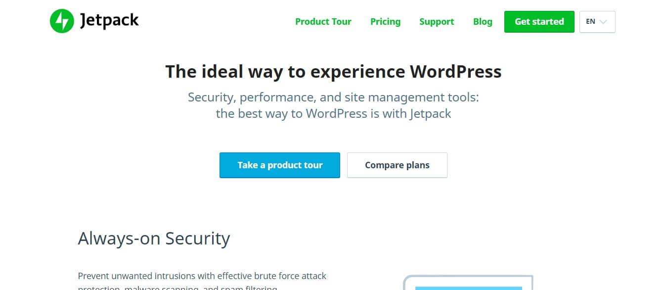 Jetpack - Best Pingdom alternatives for wordpress
