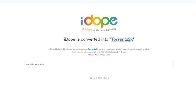 iDope, best alternative to the pirate bay