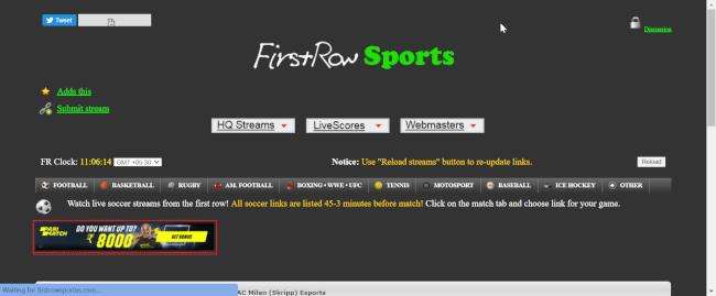 firstrowsports alernatives